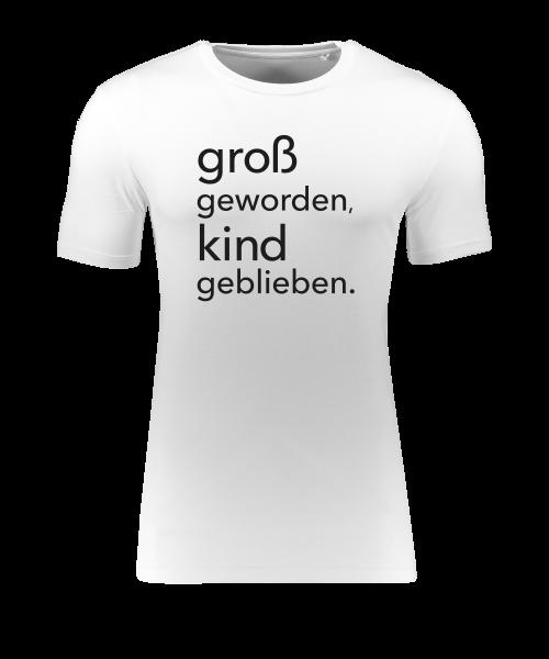 """Herren T-Shirt """"groß geworden Kind geblieben"""""""